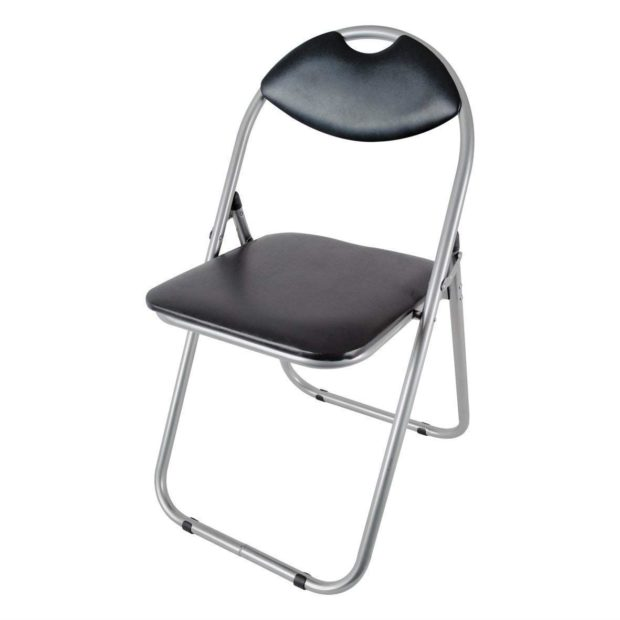 Paris Black Folding Office Chair