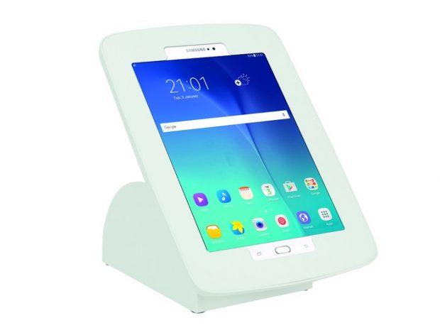 White MoonBase Desktop Tablet Enclosure