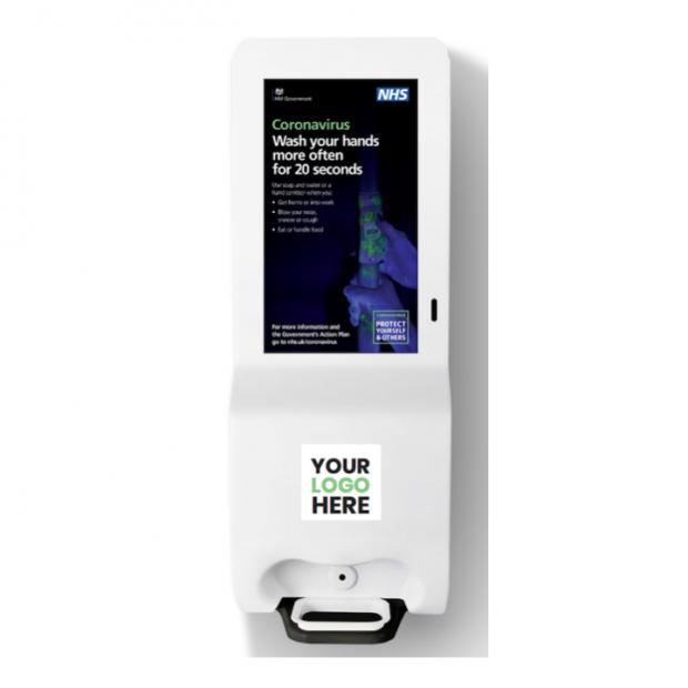 Digital Poster & Hand Sanitiser